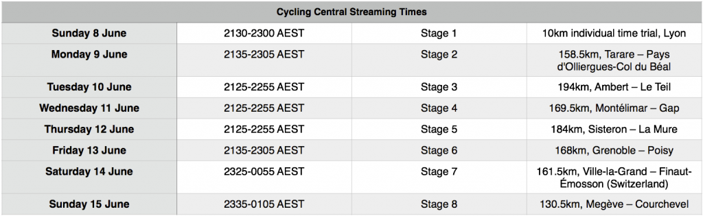 CDD Broadcast Times