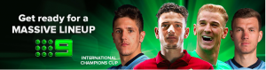 Advertisement for the International Champions Cup on Nine